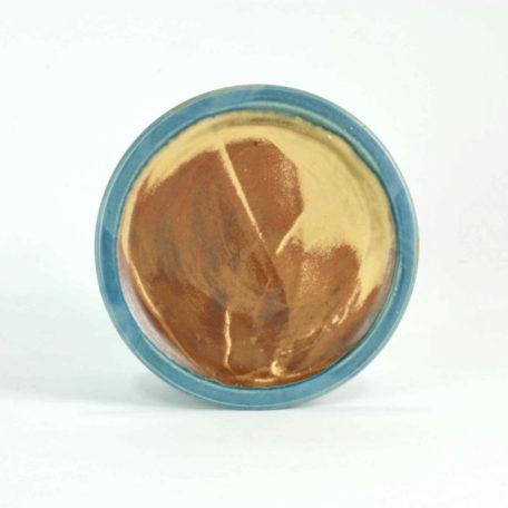 blau, schlicht, Geschirr, Keramik, Mittelteller