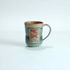 Tasse, Henkelbecher, grün, Kanton, Kaffeebecher