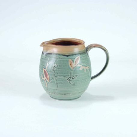 keramik-luchtmann-krug-gruen-seitenansicht
